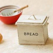 Dollhouse Accessories- Shabby Chic Antique White Bread Box