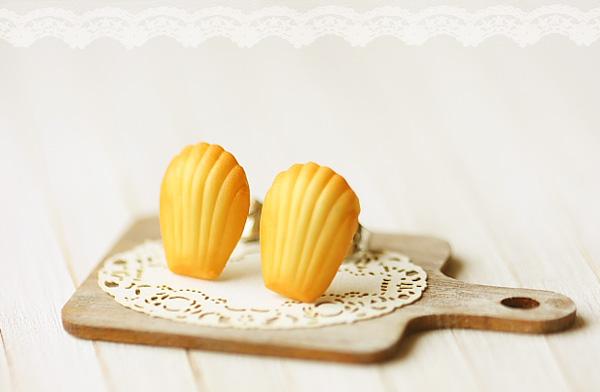 Food Earrings - French Madeleine Earring Studs