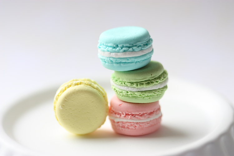 Miniature Food Jewelry  French Macaron Ring Candy Drop Series